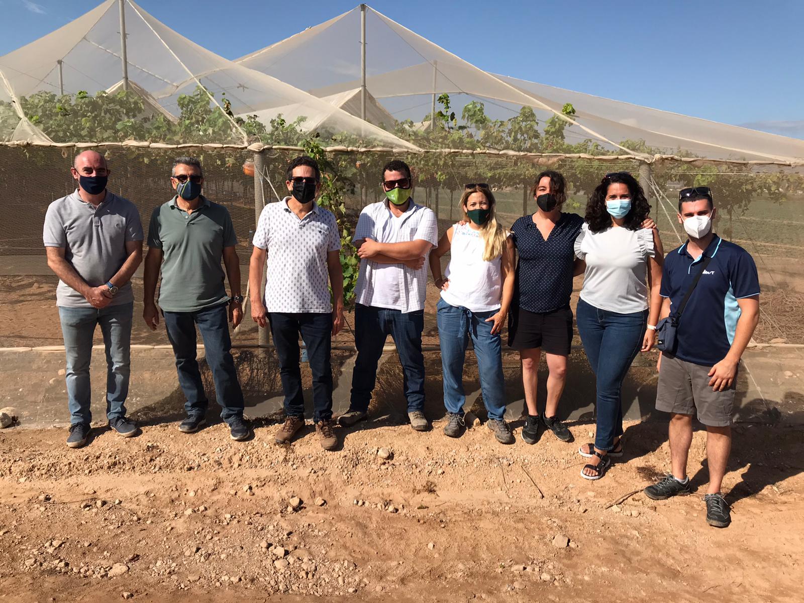 Visita Fitoser y Biobest a Ignacio Prieto